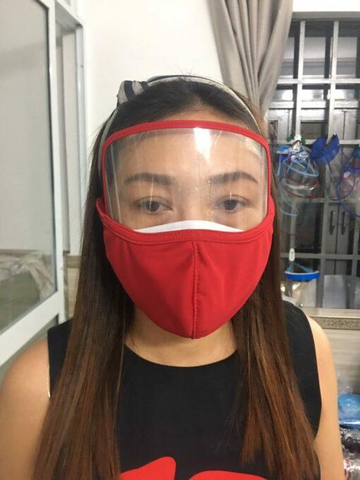 Khẩu Trang Vải Kết Hợp Face Shield Làm Theo Mẫu Của Đơn Đặt Hàng Tại Thị Trường MỸ - EU! 3