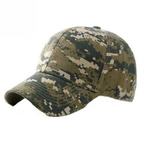 Nón Kết - Mẫu Nón 020 - Mẫu Nón Kết Lính Rằn Ri Xanh Kiểu 3. 3