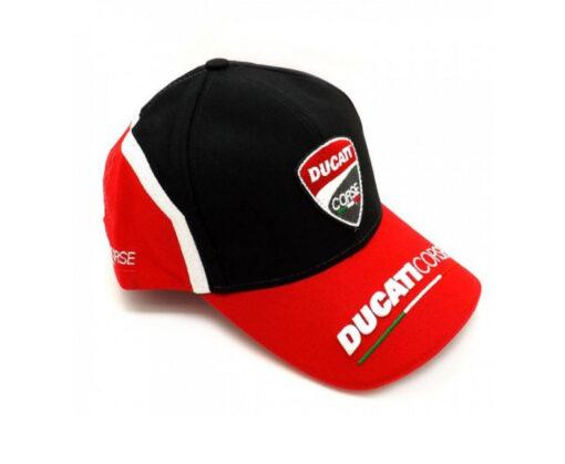 Nón Sự Kiện Kiểu Nón Kết Ducati Corse Màu Đỏ Đen 3
