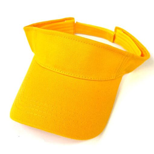 Nón Nửa Đầu – Mẫu Nón 001 – Mẫu Nón Nửa Đầu Vành Cong Mẫu Trơn Màu Vàng. 3