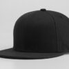 Nón Snapback Cap – Mẫu Nón 002 – Mẫu Nón Trơn Snapback Màu Đen 2