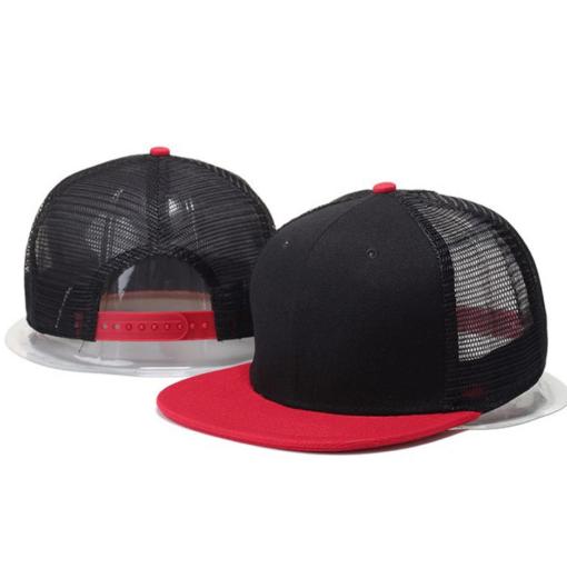 Nón Snapback Cap – Mẫu Nón 003 – Mẫu Nón Snapback Lưới Màu Đỏ Đen. 3
