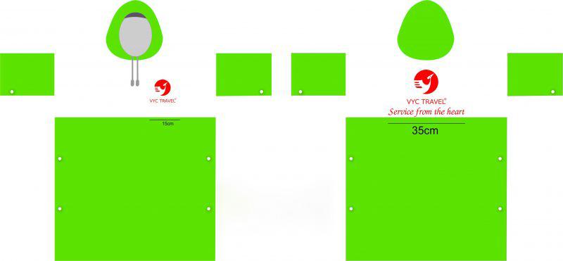 Áo mưa cánh dơi được in logo theo yêu cầu số lượng lớn của phía khách hàng