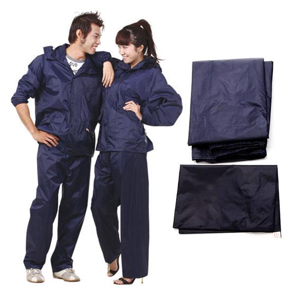 Áo mưa bộ bao gồm quần và áo tiện lợi an toàn cho từng cá nhân sử dụng
