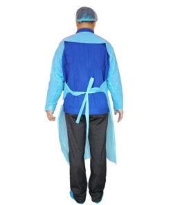 Áo tạp dề nhựa PE Hở Lưng- Loại áo dùng một lần chất lượng cao, có dây cột ở cổ và eo. 5