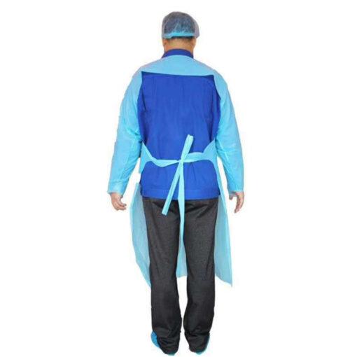 Áo tạp dề nhựa PE Hở Lưng- Loại áo dùng một lần chất lượng cao, có dây cột ở cổ và eo. 4