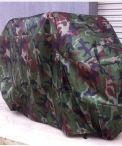 Áo Khoác Đi Mưa - Loại Áo Khoác Đi Mưa 2 Lớp Vải Dù & Vải Lưới Mền Có Khóa Kéo Màu Đỏ. 24