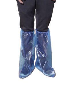 Bọc Giày Đi Mưa Cổ Cao - Loại Bọc Giầy Tiện Lợi PE Trong Suốt Màu Xanh Sử Dụng 1 Lần Chống Nước. 6