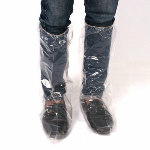 Ủng Đi Mưa Bảo Vệ Giày - Loại Ủng Đi Mưa Dùng 1 Lần Cổ Cao Trong Suốt Tiện Lợi 3