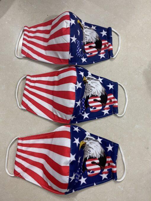 7 Mẫu Khẩu Trang Cờ Mỹ – Mẫu Khẩu Trang Vải 2 Lớp & 3 Lớp Cờ Mỹ Được Nhiều Người Lựa Chọn 3
