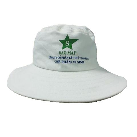 Mũ Tai Bèo Cty Sao Mai – Loại Nón Tai Bèo Màu Trắng in Logo theo yêu cầu. 3