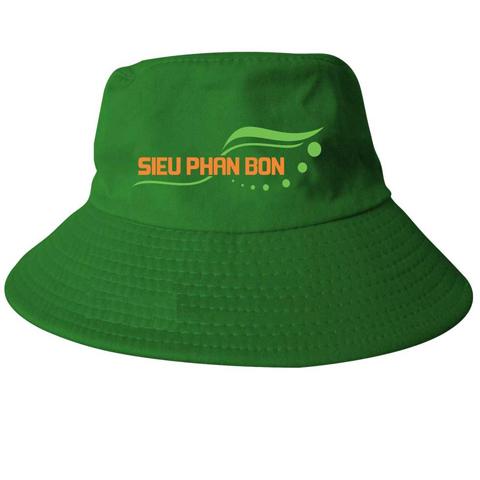 Mũ Tai Bèo Siêu Phân Bón – Loại Nón Tai Bèo Xanh lá Cây in Logo theo yêu cầu. 3