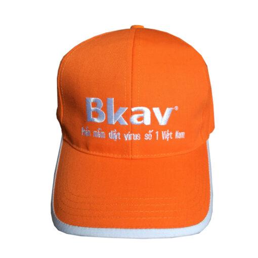 Nón Kết Cty BKAV - Loại Mũ Lưỡi Trai Màu Cam Được Thêu Logo Cty Theo Yêu Cầu. 3