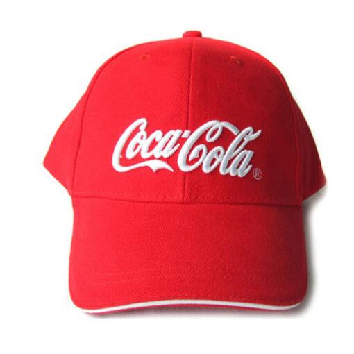 Nón Kết Cty Coca Cola – Loại Mũ Lưỡi Trai Màu Đỏ Được Thêu Logo Cty Theo Yêu Cầu. 3