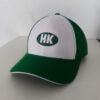 Nón Kết Cty HK – Loại Mũ Lưỡi Trai Màu Trắng Phối Xanh lá Cây Thêu Logo. 2