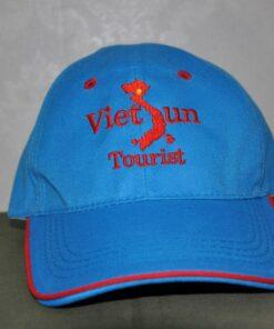 Nón Kết Cty VN Travel - Loại Mũ Lưỡi Trai Màu Xanh Nhạt Được Thêu Logo Cty Theo Yêu Cầu. 11