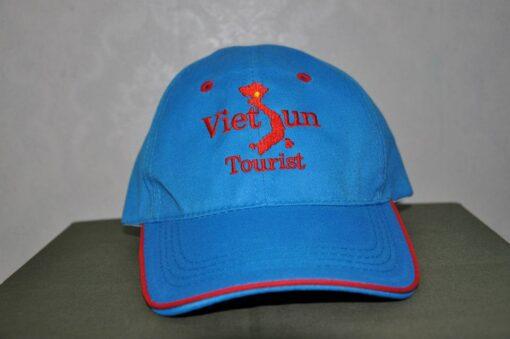 Nón Kết Cty Việt Tourist - Loại Mũ Lưỡi Trai Màu Xanh Được Thêu Logo Cty Theo Yêu Cầu. 3