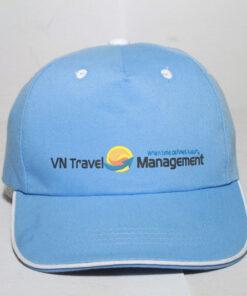 Nón Kết Cty VN Travel - Loại Mũ Lưỡi Trai Màu Xanh Nhạt Được Thêu Logo Cty Theo Yêu Cầu. 10
