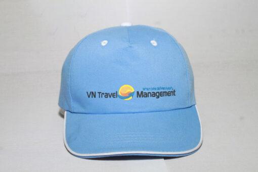 Nón Kết Cty VN Travel - Loại Mũ Lưỡi Trai Màu Xanh Nhạt Được Thêu Logo Cty Theo Yêu Cầu. 3