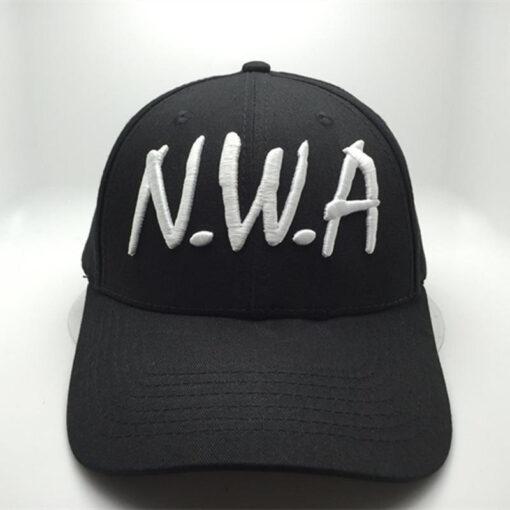 Nón Kết N.W.A- Loại Mũ Lưỡi Trai Đơn Giản Màu Đen Được Thêu Logo Theo Yêu Cầu. 3