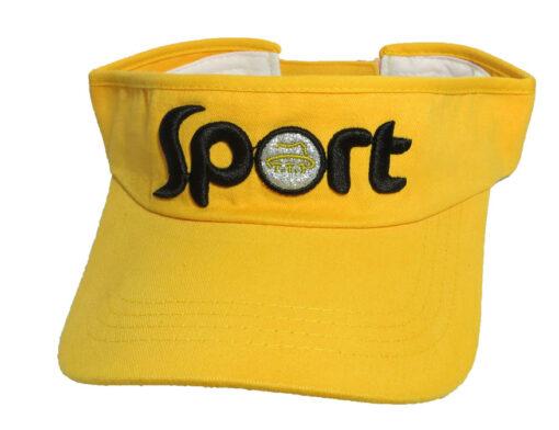 Nón Nửa Đầu Sport - Loại Mũ Đơn Giản Màu Vàng Thêu Logo Cty Theo Yêu Cầu. 3