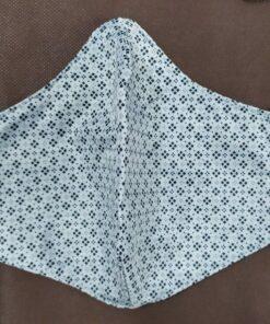 Khẩu Trang Vải 2 Lớp – Khẩu Trang Vải Mỏng Mát Sọc Caro Chữ Thập Size Lớn Xuất Khẩu Hàng Tốt. 5