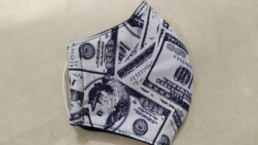 Khẩu Trang Vải 3 Lớp - Mẫu Khẩu Trang IN 3D Tiền USD, Size Lớn XUẤT KHẨU. 3