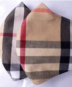 Khẩu Trang Vải 3 Lớp – Mẫu Khẩu Trang Vải Caro May Theo Yêu Cầu, SIZE Lớn. 5