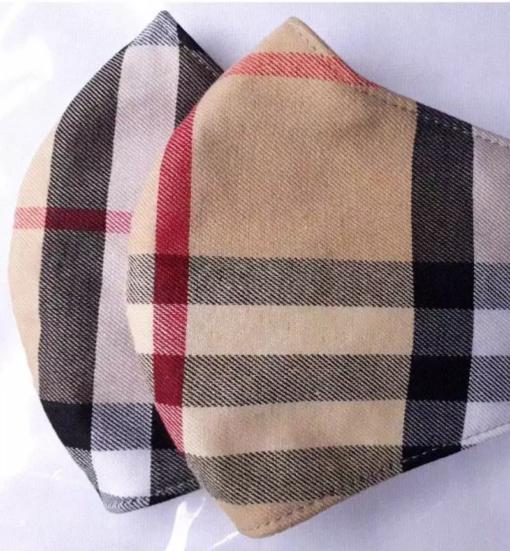Khẩu Trang Vải 3 Lớp – Mẫu Khẩu Trang Vải Caro May Theo Yêu Cầu, SIZE Lớn. 4