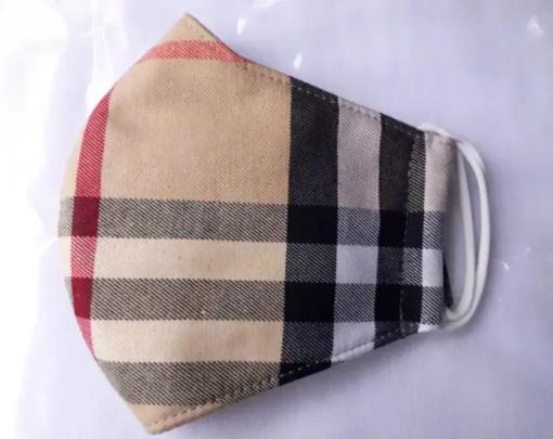 Khẩu Trang Vải 3 Lớp – Mẫu Khẩu Trang Vải Caro May Theo Yêu Cầu, SIZE Lớn. 3
