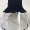 Non Bucket Kết Hợp Vành Chống Giọt Bắn Face Shield Loại Màu Đen Dành Cho Người Lớn 1