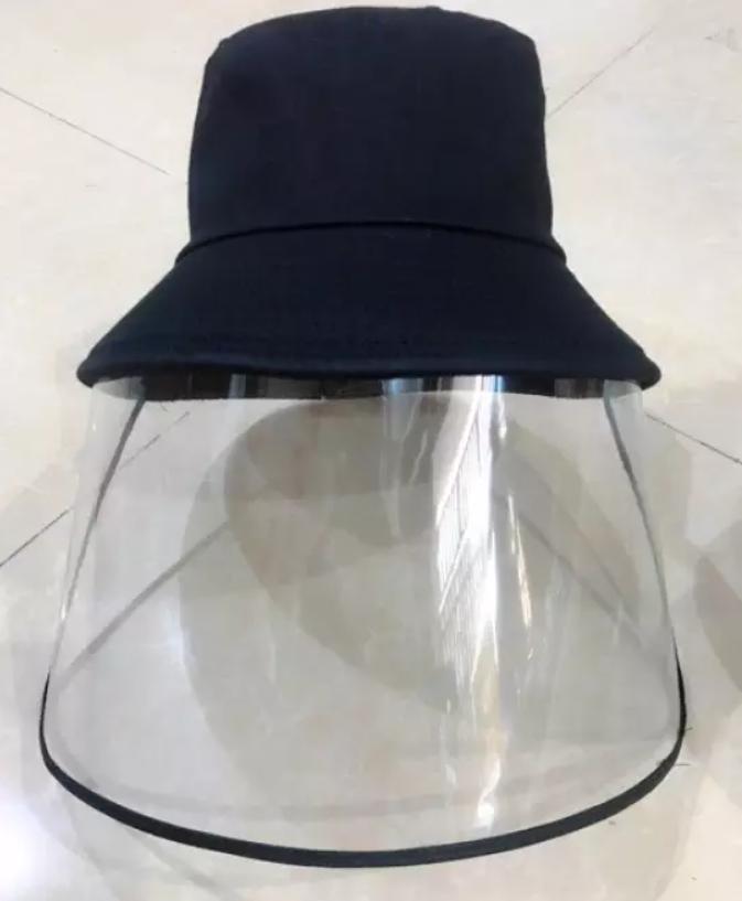 Non Bucket Kết Hợp Vành Chống Giọt Bắn Face Shield Loại Màu Đen Dành Cho Người Lớn 4