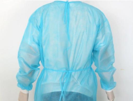 Áo Choàng Nhựa PE Bít Lưng Kiểu Đơn Giản, Sử Dụng 1 Lần GIÁ RẺ. 4