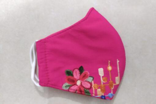 Khẩu Trang Vải 3 Lớp Thêu - Mẫu Khẩu Trang Vải Thêu Hoa Phong Cách Trù Tượng Hiện Đại. 3