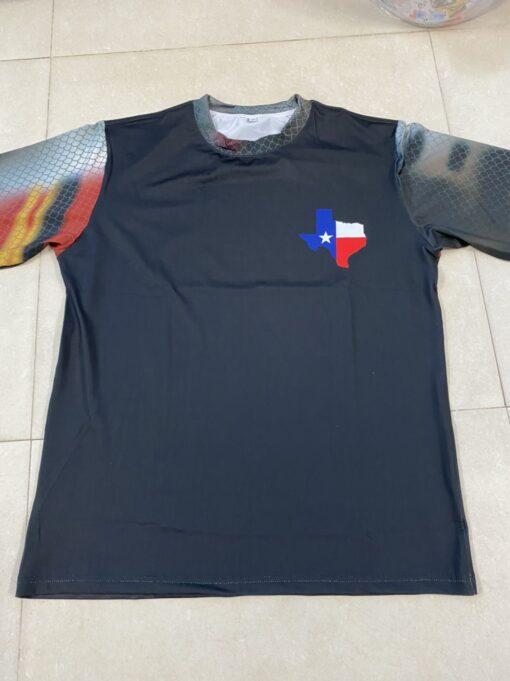 Áo Thun Tay Dai 4 Chiều - Mẫu Áo Thun Co Giãn 4 Chiều In tiểu Bang Texas Hoa Kỳ Xuất Khẩu. 3