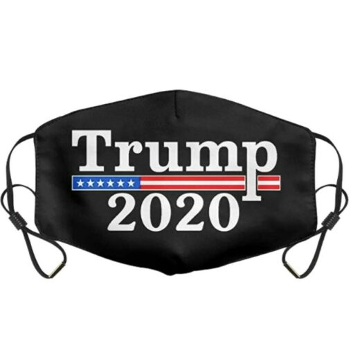 Khẩu Trang MAGA Bầu Cử Mỹ – Mẫu Khẩu Trang TRUMP 2020 Kiểu 1 Mảnh Màu Đen Tăng Giảm. 3