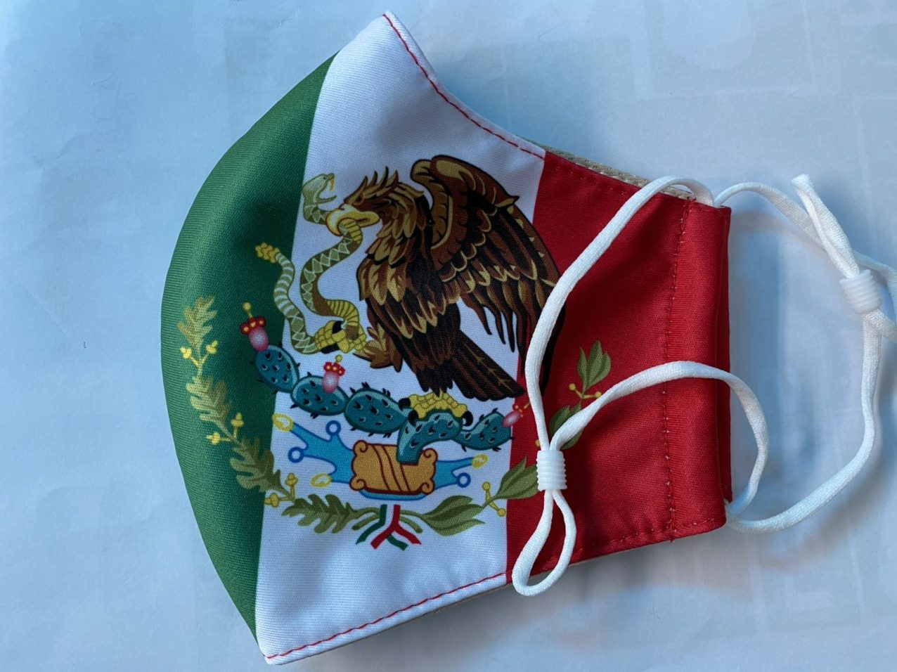 Khẩu Trang In Logo Quốc Huy Mexico 2 Lớp - Mẫu Khẩu Trang In 3D Cờ Mexico 6