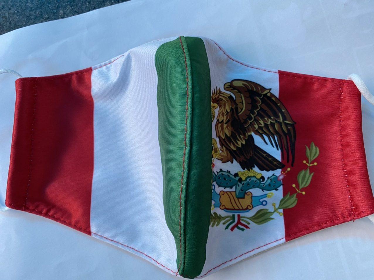 Khẩu Trang In Logo Quốc Huy Mexico 2 Lớp - Mẫu Khẩu Trang In 3D Cờ Mexico 7