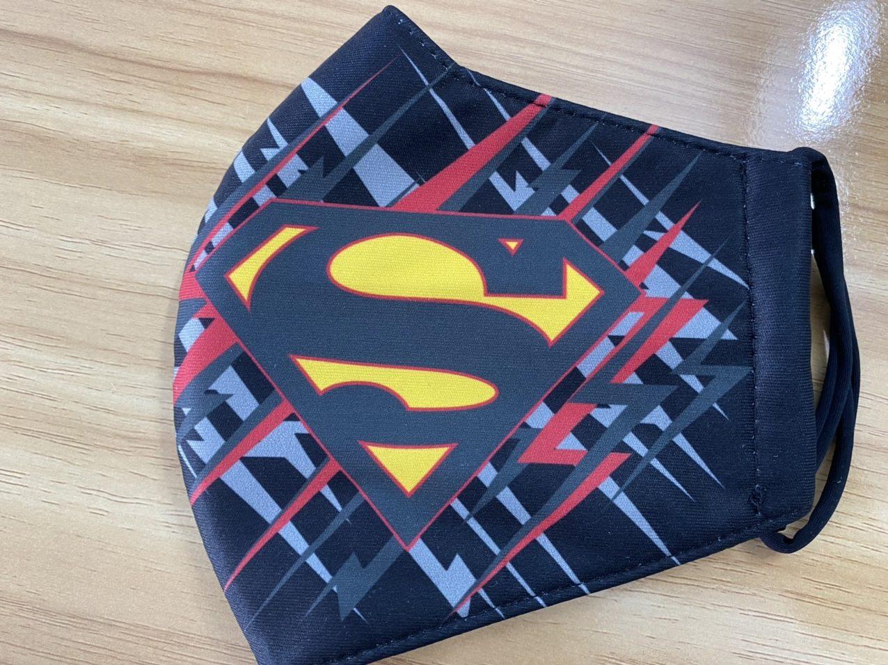Khẩu Trang Vải In Logo SuperMan 2 Lớp - Mẫu Khẩu Trang In 3D Logo Super Man Nền Xanh 6