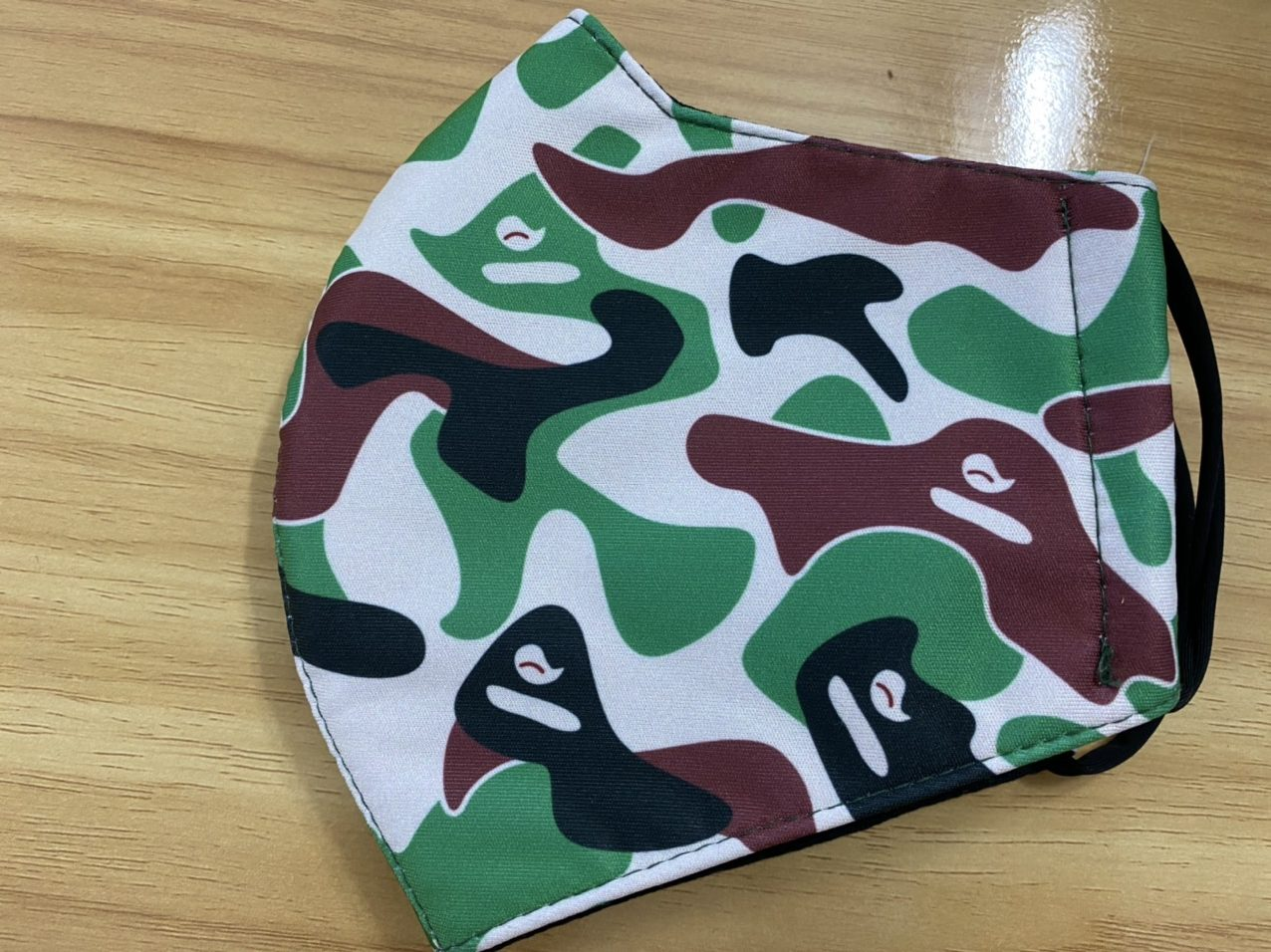 Khẩu Trang Vải Màu Camo 2 Lớp - Mẫu Khẩu Trang In 3D Màu Camo 6